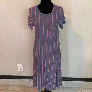 Lularoe tee shirt dress hi-lo. Almost maxi length